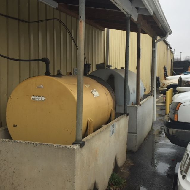 Waste Oil Burning furnance and Storage Tanks 1