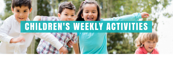 Childrens Weekly Activities. Images of Children playing.