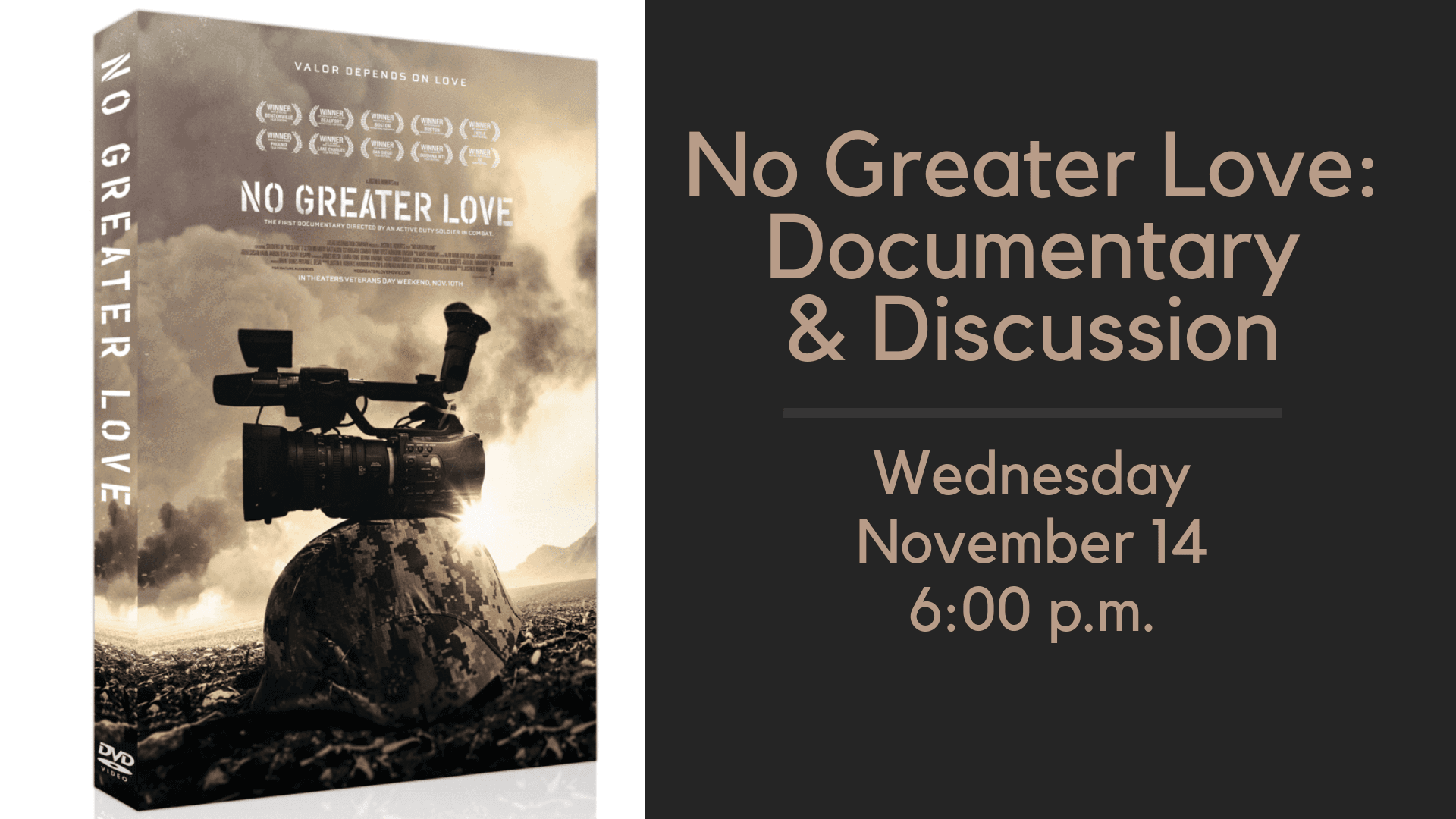 No Greater Love dvd cover with Image of soldiers