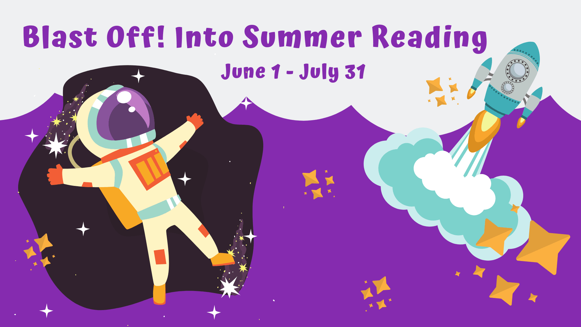 Blast Off Into Summer Reading image of space